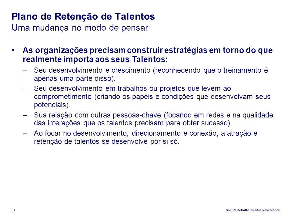 Plano de Retenção de Talentos Uma mudança no modo de pensar