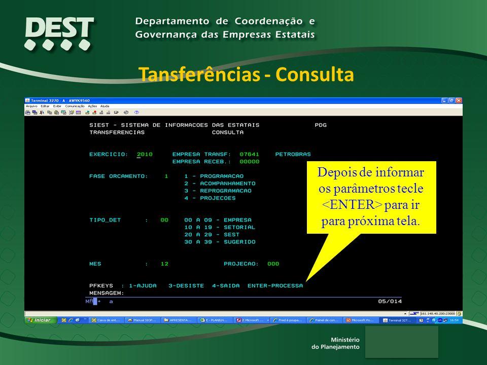 Tansferências - Consulta