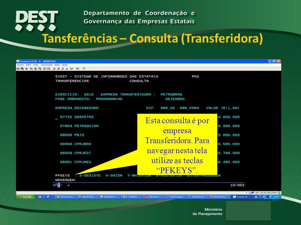 Tansferências – Consulta (Transferidora)