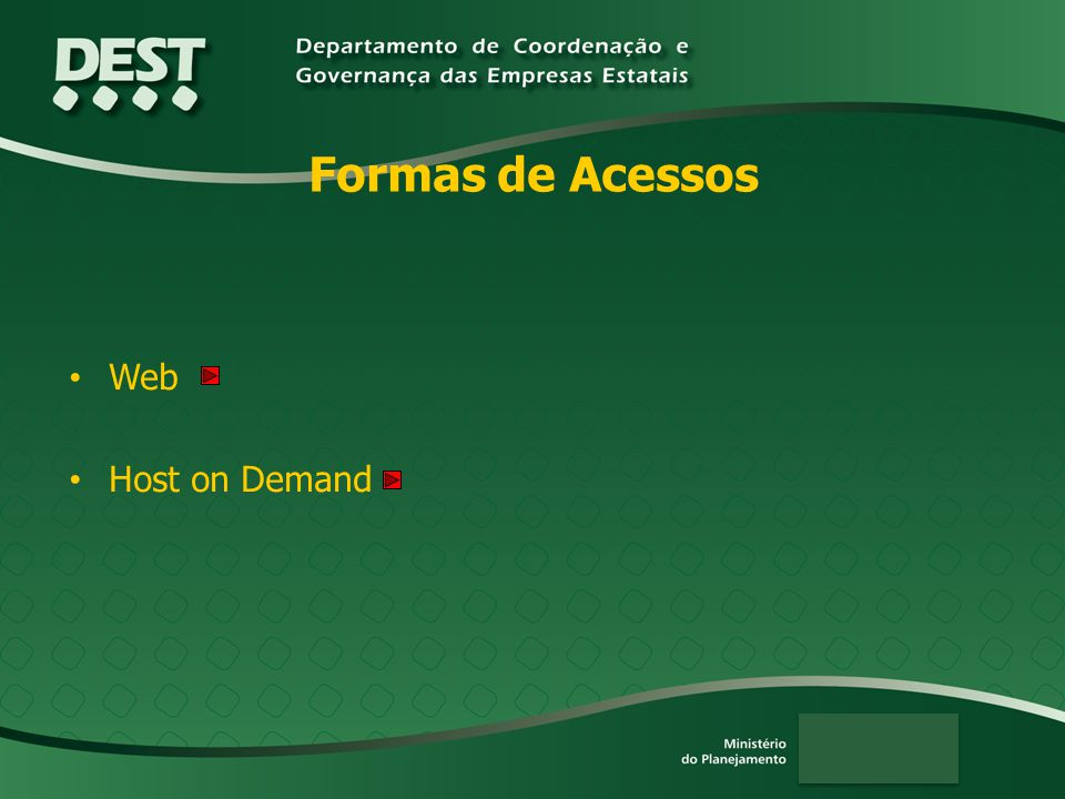 Formas de Acessos Web Host on Demand
