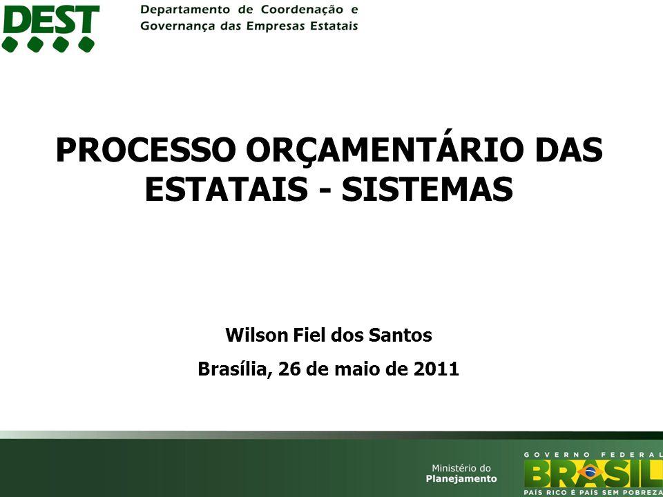 PROCESSO ORÇAMENTÁRIO DAS ESTATAIS - SISTEMAS