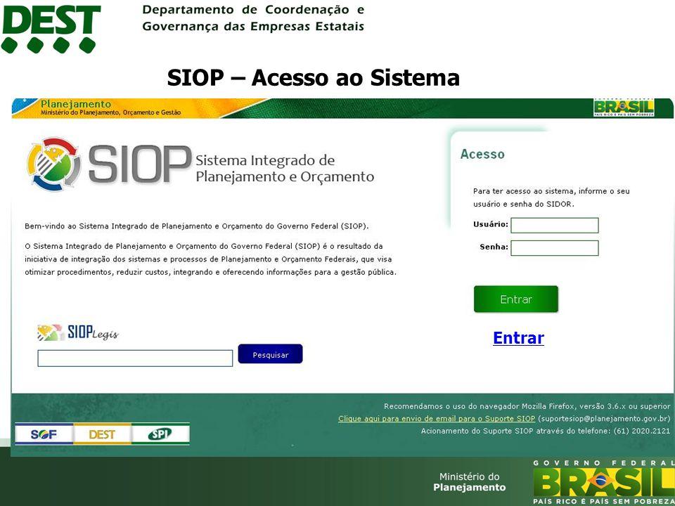SIOP – Acesso ao Sistema