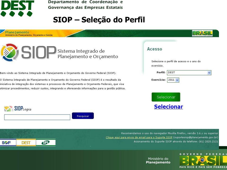 SIOP – Seleção do Perfil