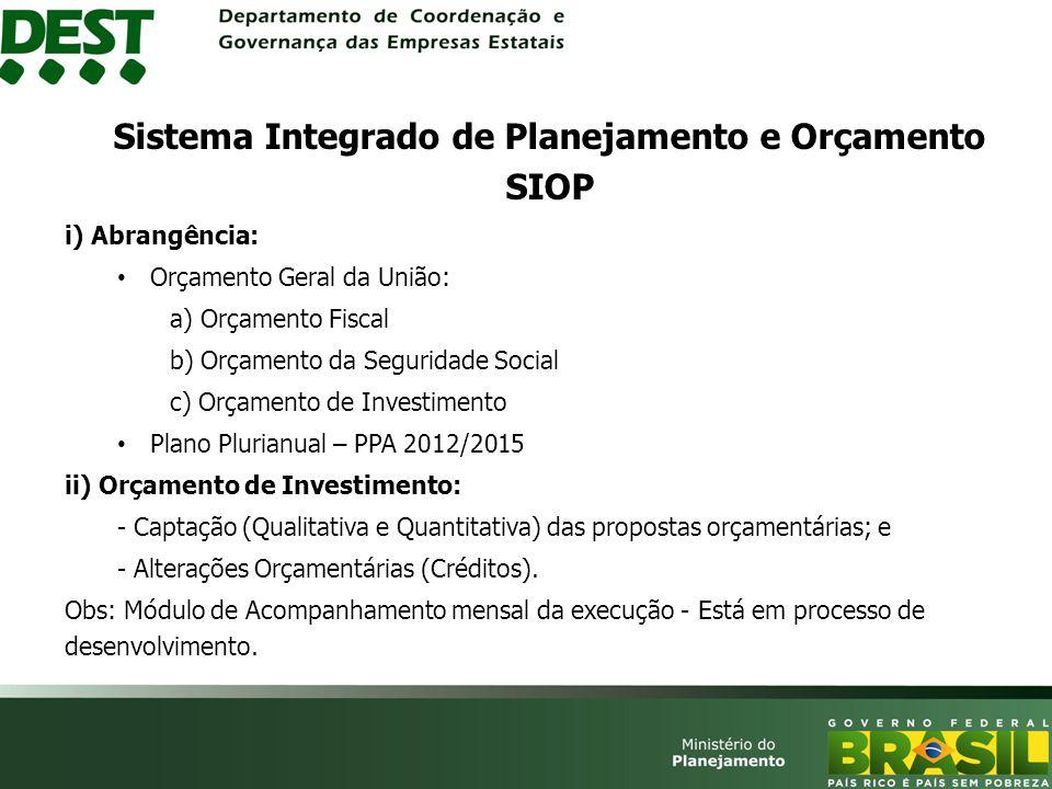 Sistema Integrado de Planejamento e Orçamento SIOP