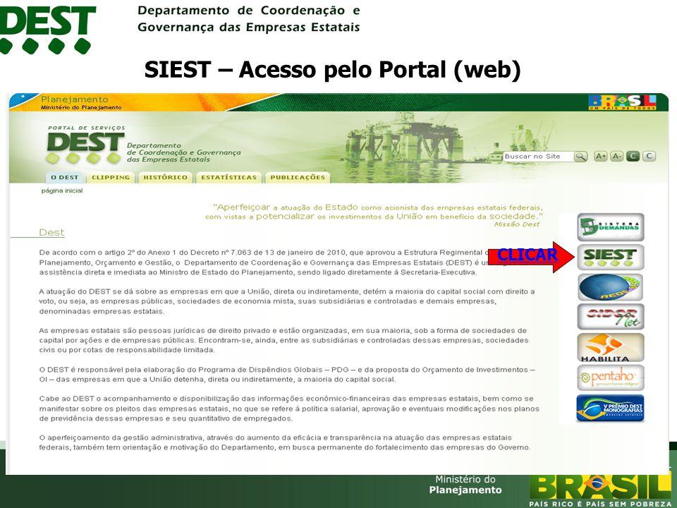 SIEST – Acesso pelo Portal (web)