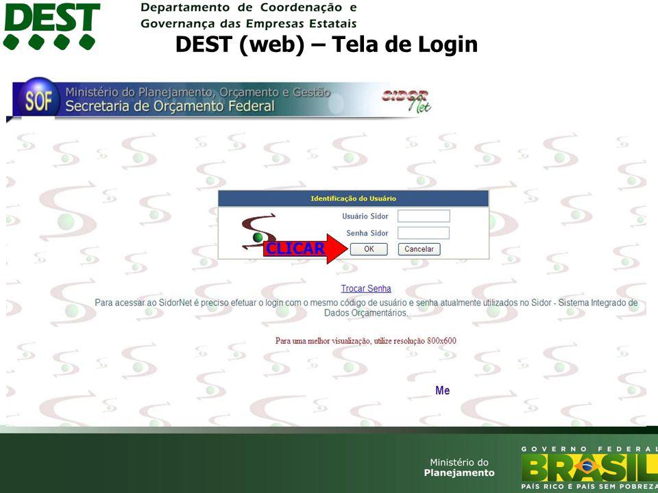DEST (web) – Tela de Login