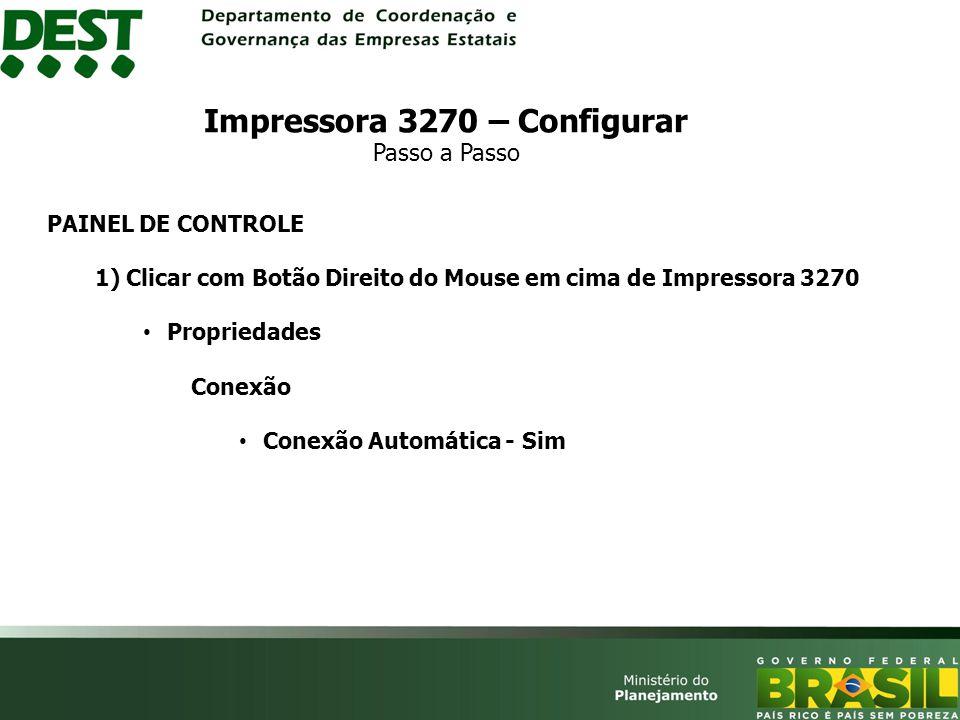 Impressora 3270 – Configurar Passo a Passo