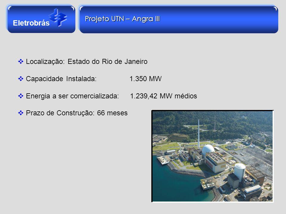 Localização: Estado do Rio de Janeiro Capacidade Instalada: 1.350 MW