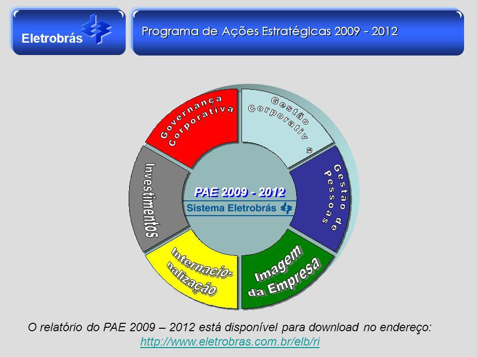 Programa de Ações Estratégicas 2009 - 2012