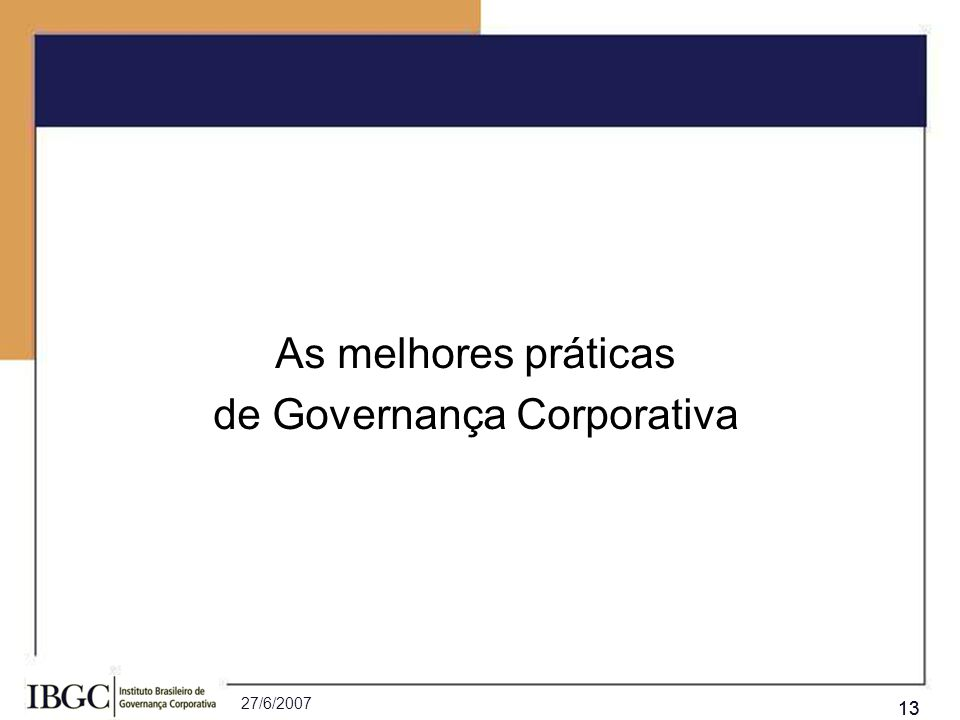 de Governança Corporativa