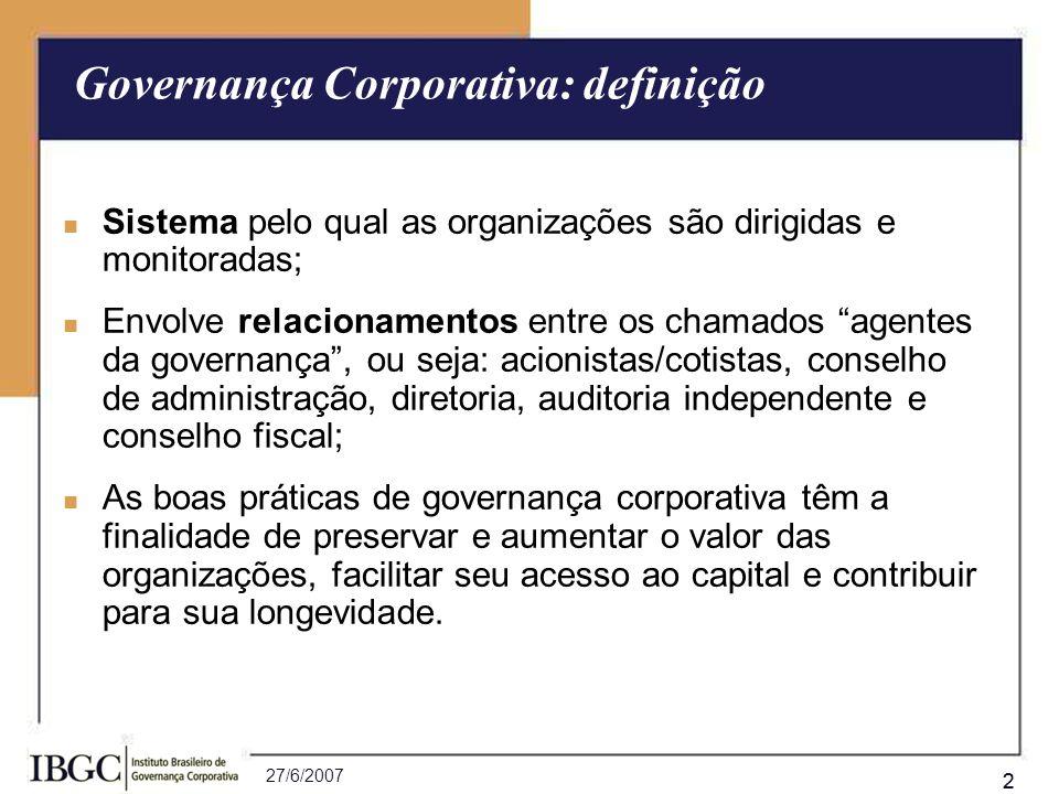Governança Corporativa: definição