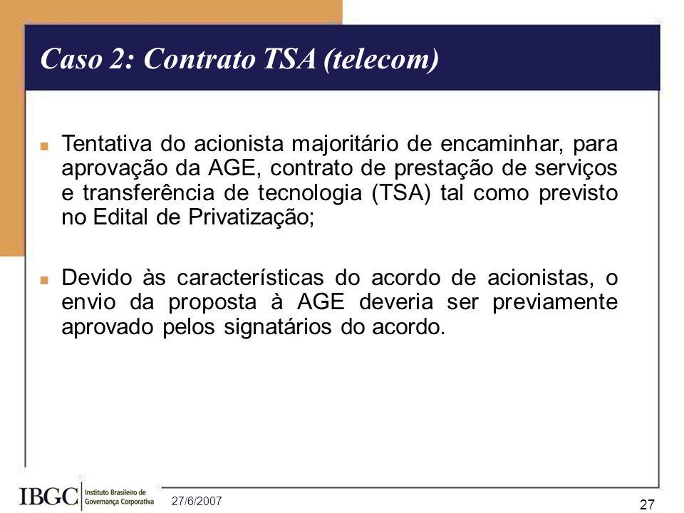 Caso 2: Contrato TSA (telecom)