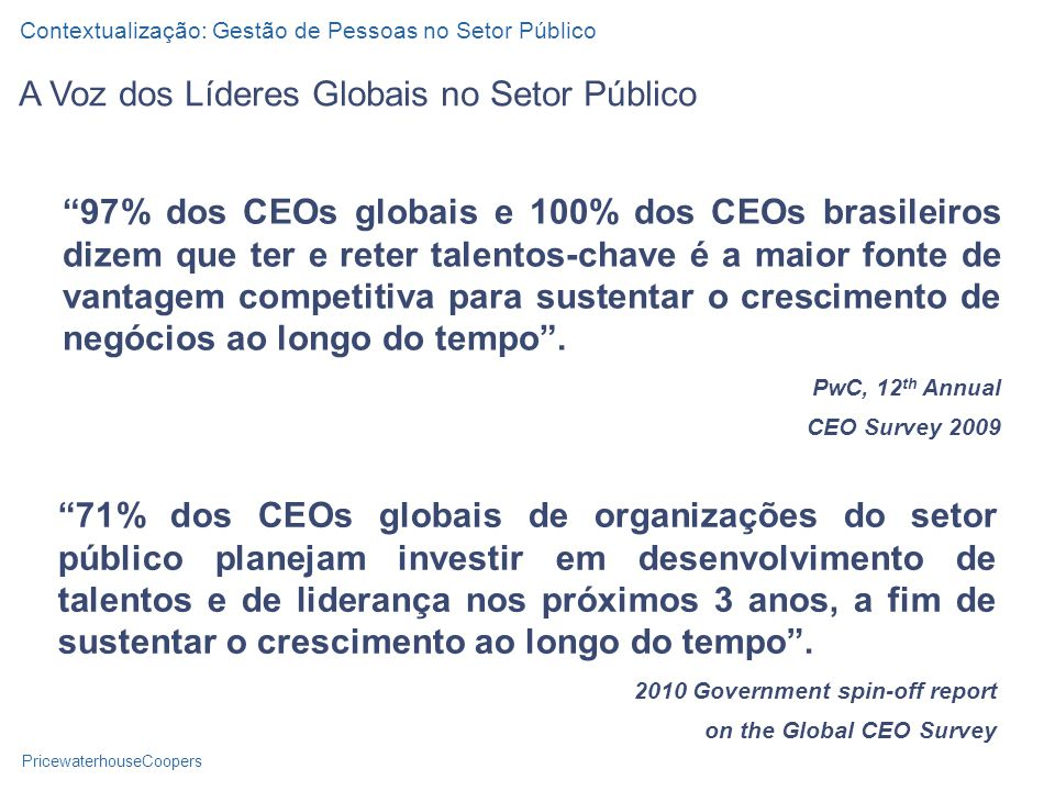 A Voz dos Líderes Globais no Setor Público
