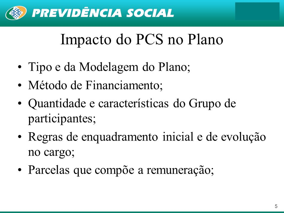 Impacto do PCS no Plano Tipo e da Modelagem do Plano;