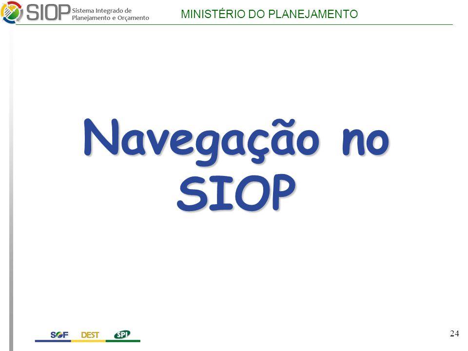 Navegação no SIOP