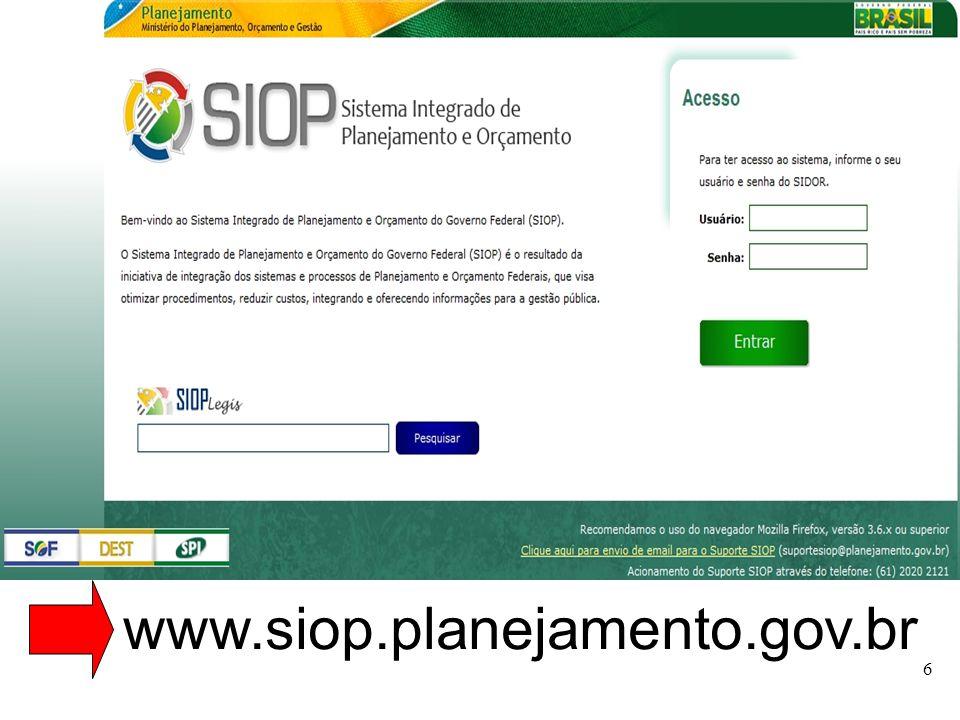 www.siop.planejamento.gov.br