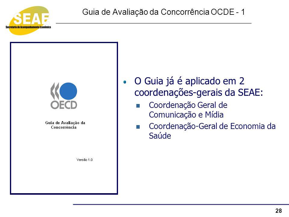 Guia de Avaliação da Concorrência OCDE - 1