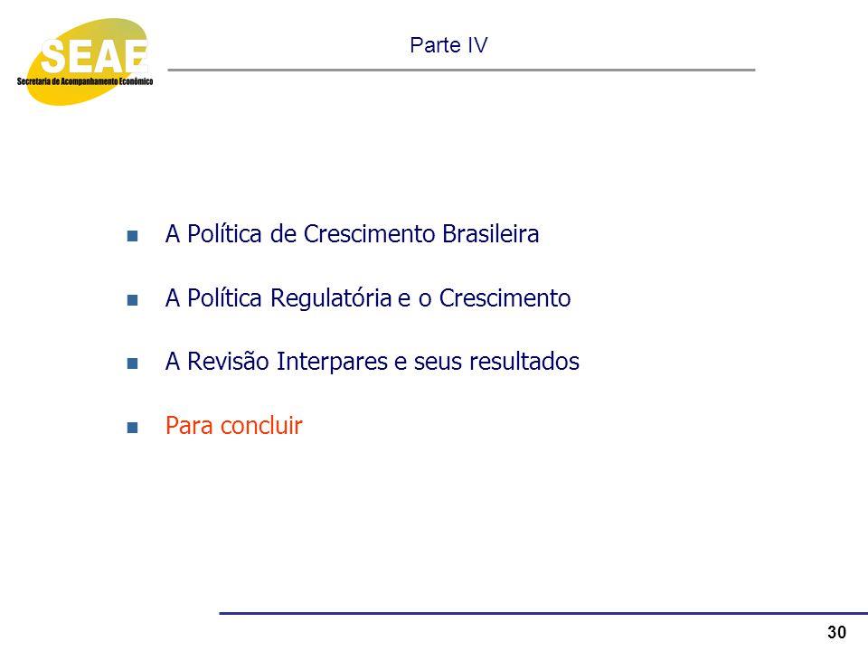A Política de Crescimento Brasileira