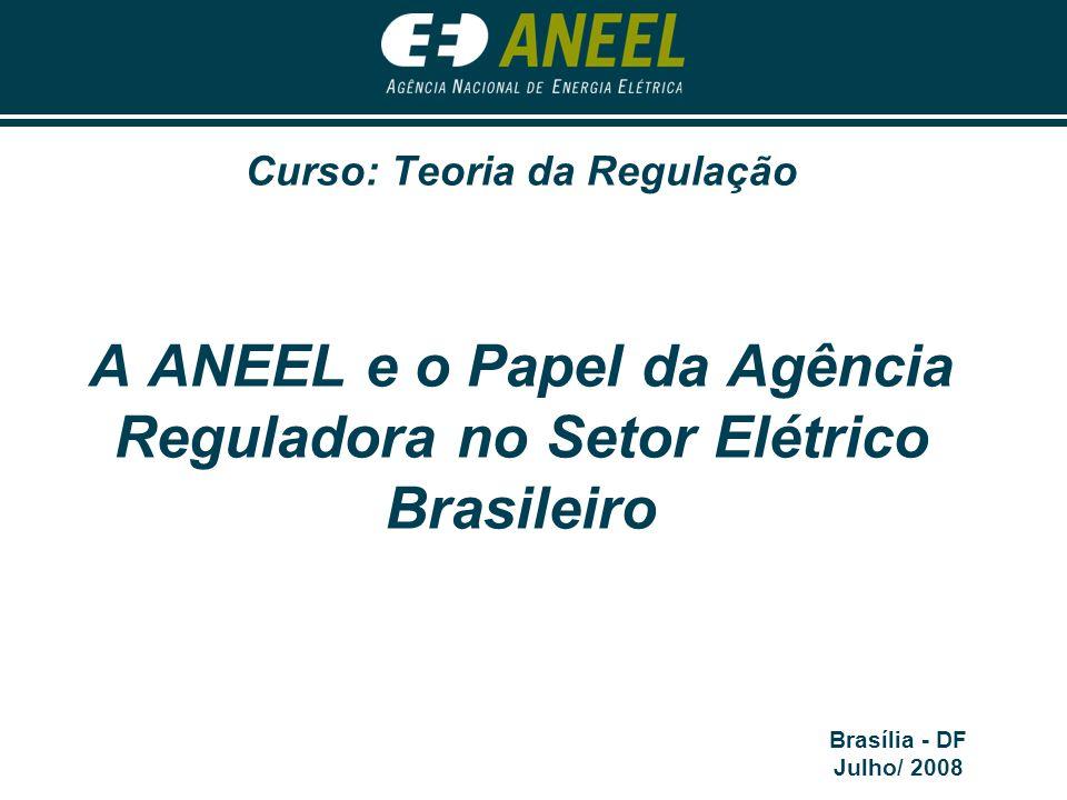 A ANEEL e o Papel da Agência Reguladora no Setor Elétrico Brasileiro