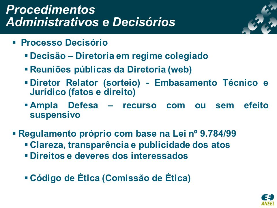 Procedimentos Administrativos e Decisórios