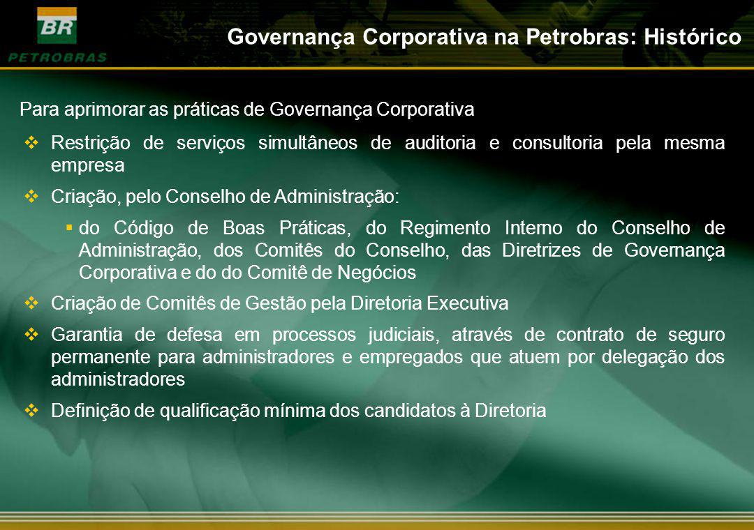 Governança Corporativa na Petrobras: Histórico