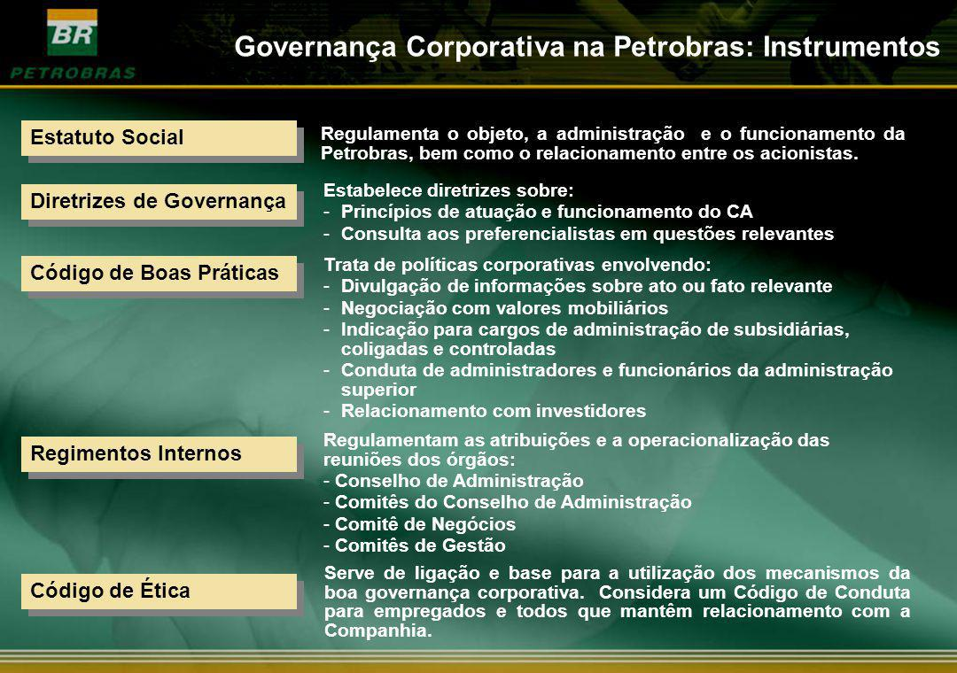 Governança Corporativa na Petrobras: Instrumentos