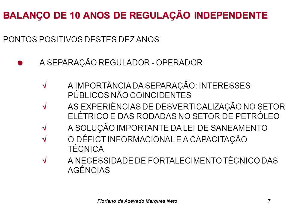 BALANÇO DE 10 ANOS DE REGULAÇÃO INDEPENDENTE