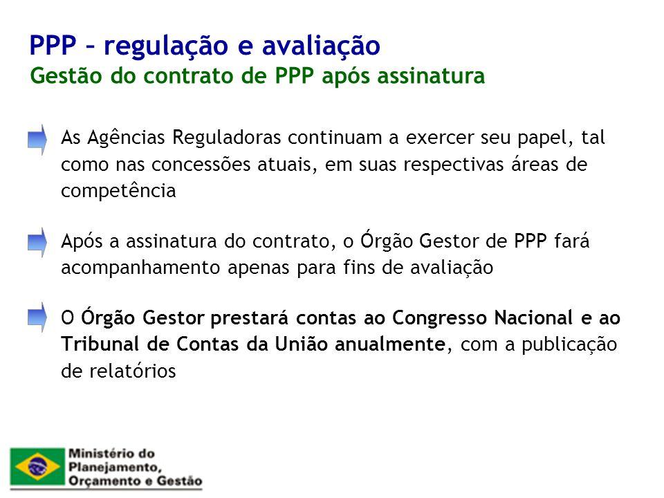 PPP – regulação e avaliação