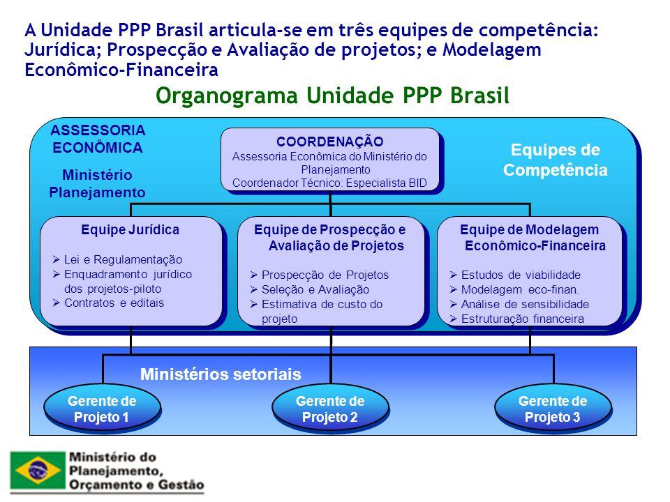 Organograma Unidade PPP Brasil