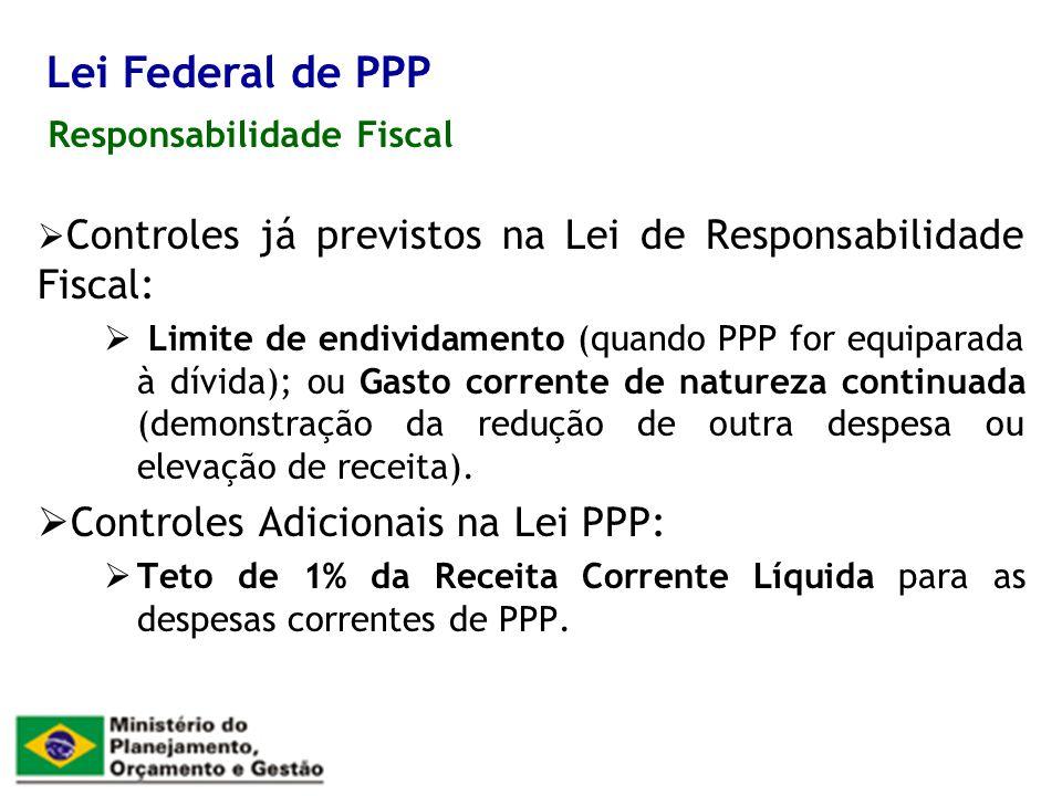 Lei Federal de PPP Controles Adicionais na Lei PPP: