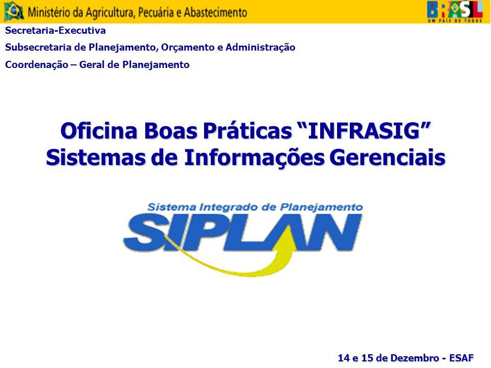 Oficina Boas Práticas INFRASIG Sistemas de Informações Gerenciais
