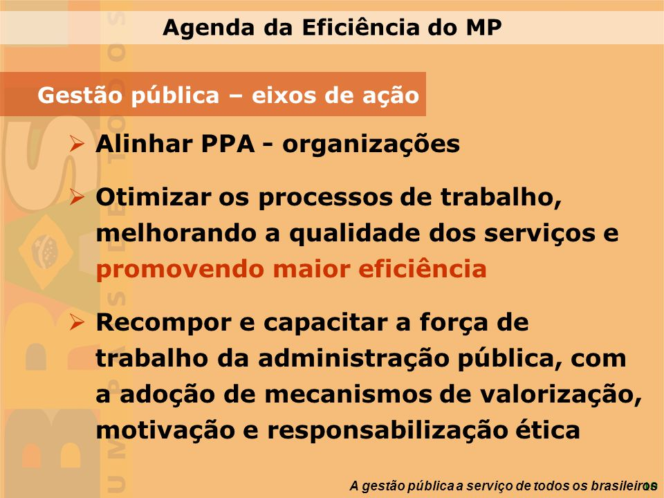 Agenda da Eficiência do MP