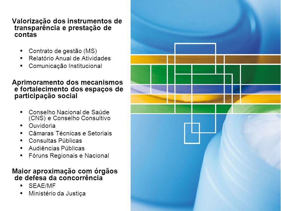 Valorização dos instrumentos de transparência e prestação de contas