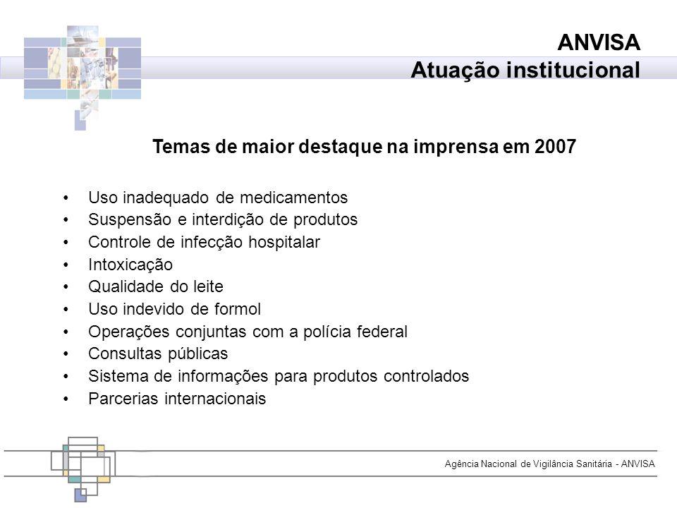 Temas de maior destaque na imprensa em 2007