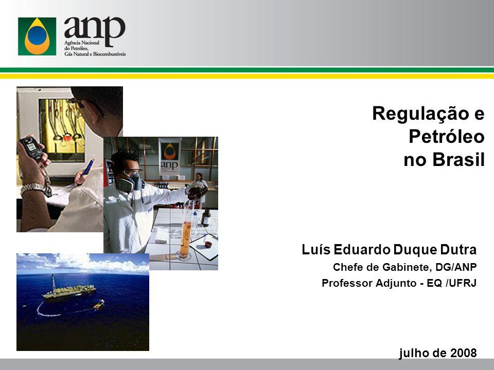 Regulação e Petróleo no Brasil Luís Eduardo Duque Dutra julho de 2008