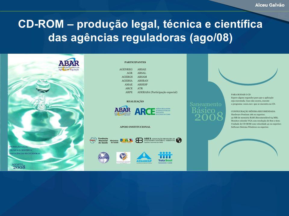 CD-ROM – produção legal, técnica e científica das agências reguladoras (ago/08)