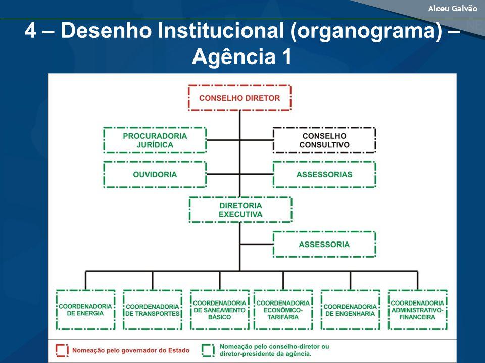 4 – Desenho Institucional (organograma) – Agência 1