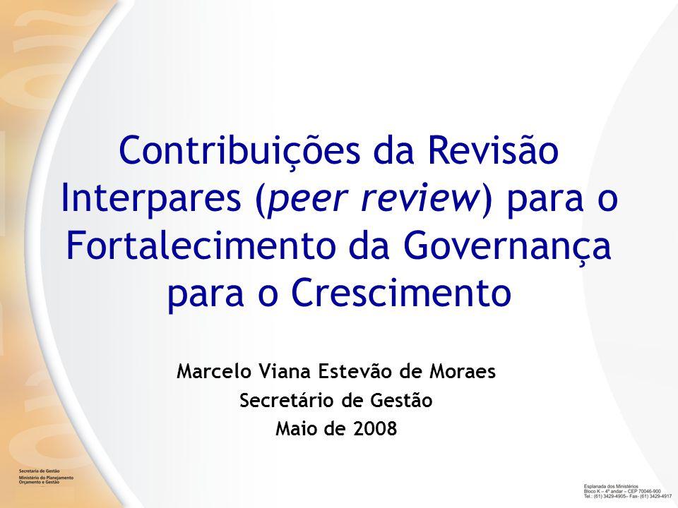 Marcelo Viana Estevão de Moraes Secretário de Gestão Maio de 2008