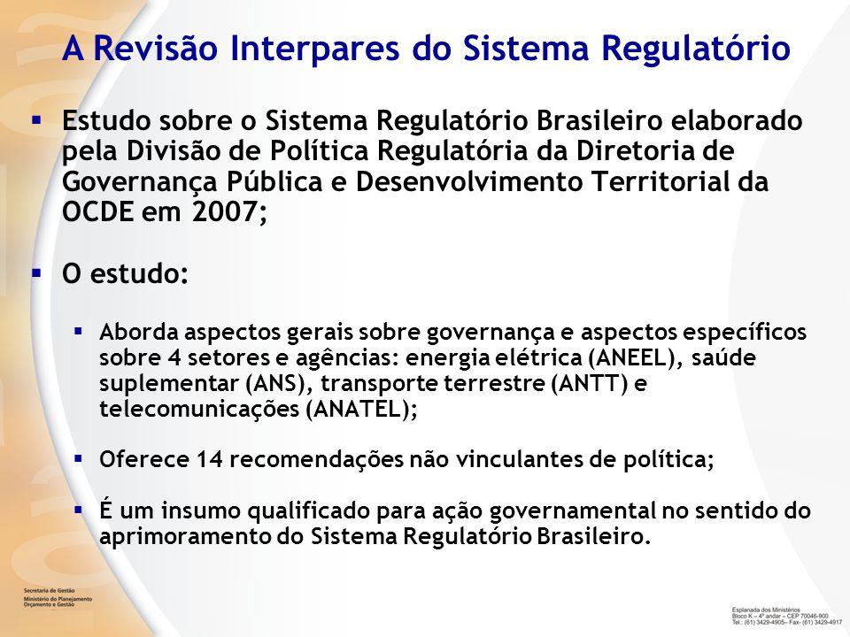 A Revisão Interpares do Sistema Regulatório