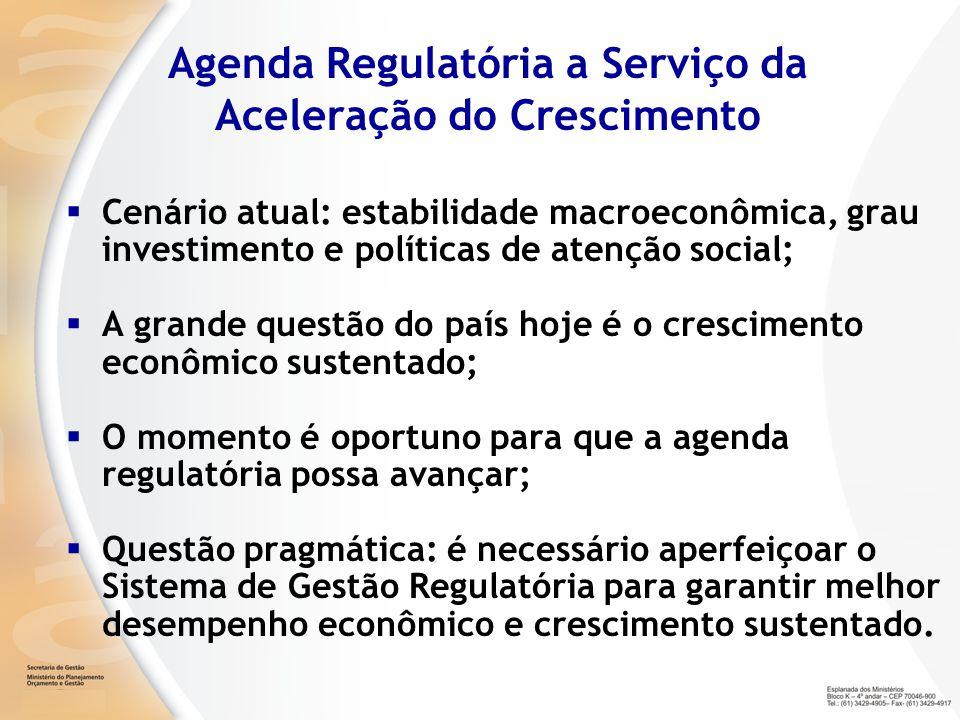 Agenda Regulatória a Serviço da Aceleração do Crescimento