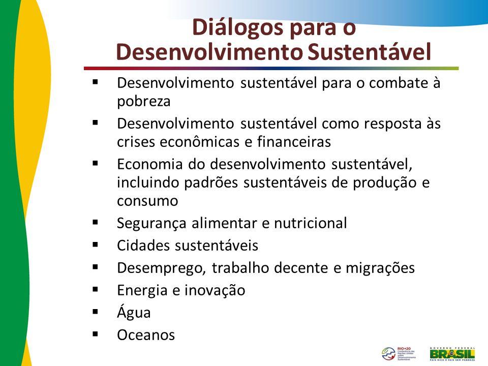 Diálogos para o Desenvolvimento Sustentável