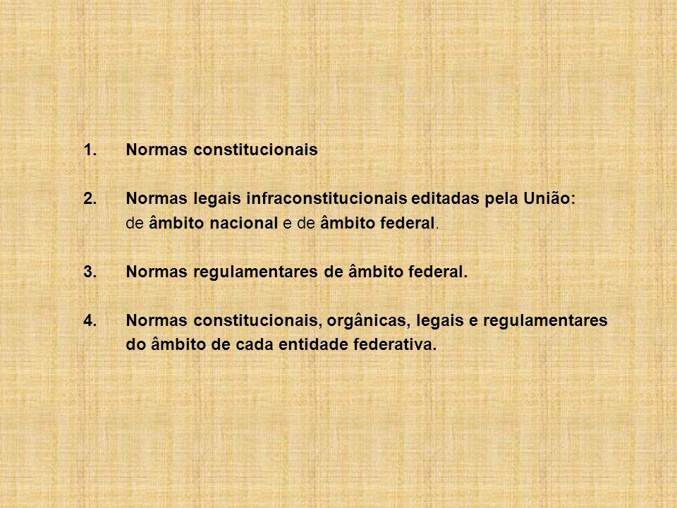 1. Normas constitucionais