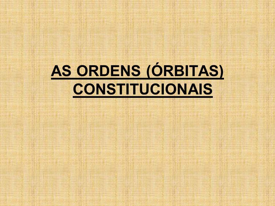 AS ORDENS (ÓRBITAS) CONSTITUCIONAIS