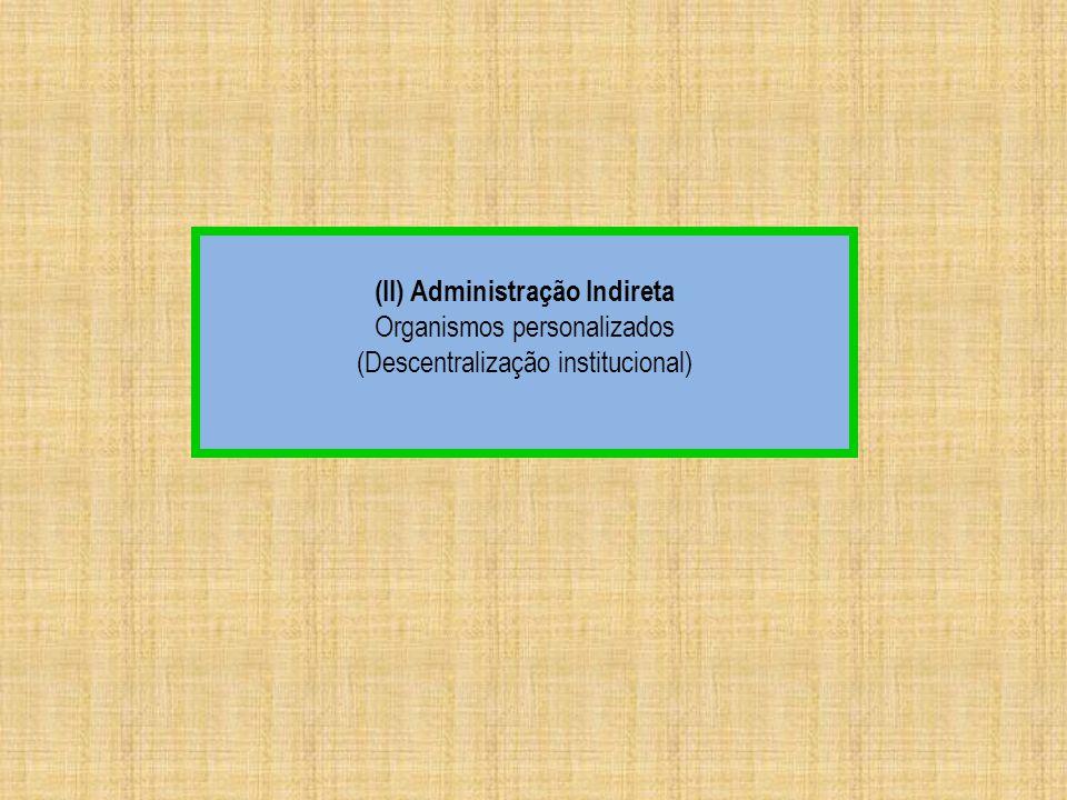 (II) Administração Indireta