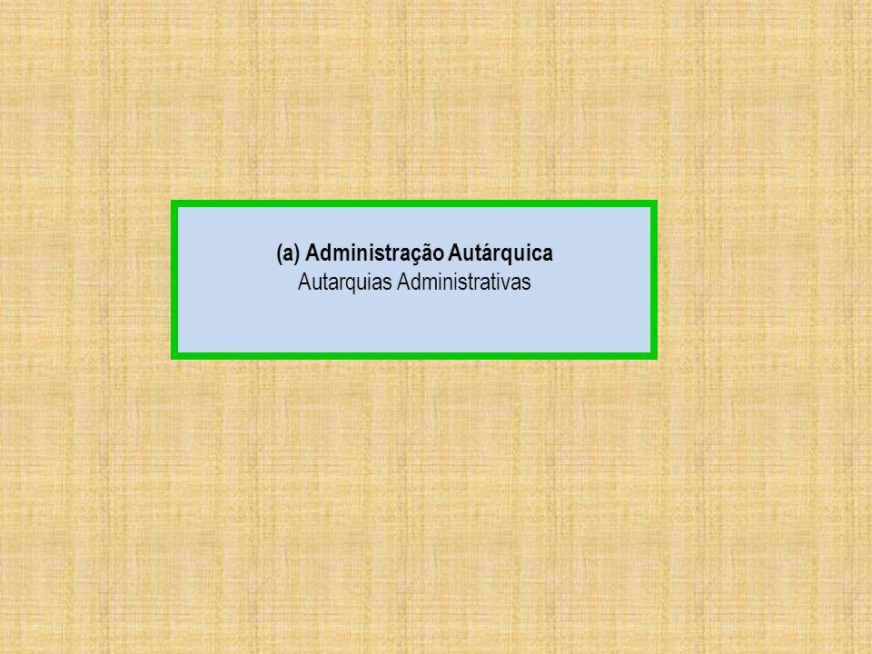 (a) Administração Autárquica