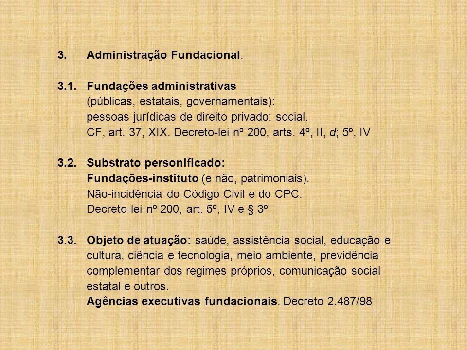 3. Administração Fundacional: