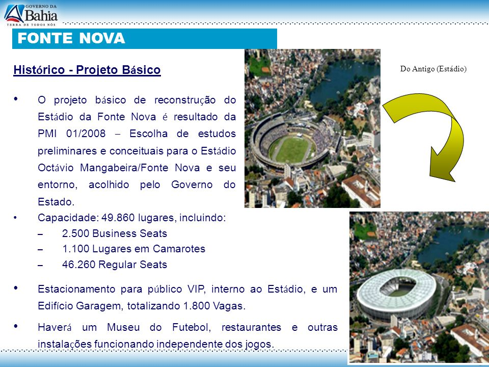 FONTE NOVA FONTE NOVA Histórico - Projeto Básico