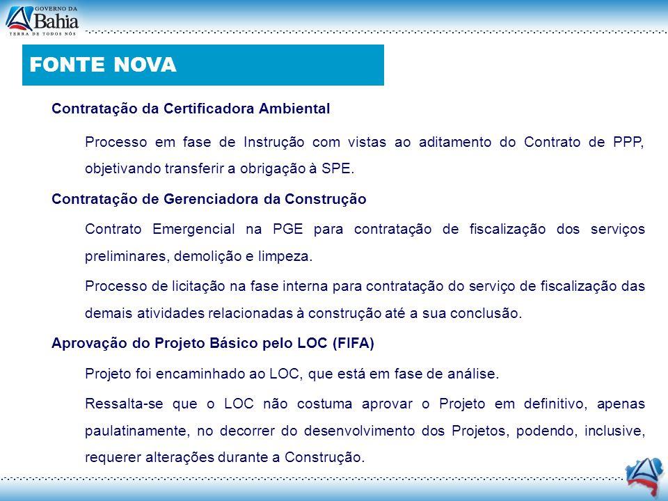 FONTE NOVA Contratação da Certificadora Ambiental