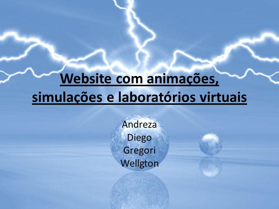 Website com animações, simulações e laboratórios virtuais
