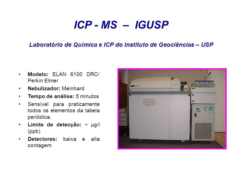 Laboratório de Química e ICP do Instituto de Geociências – USP